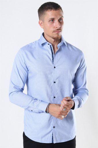 Viggo Dobby Skjorta Cashmere Blue