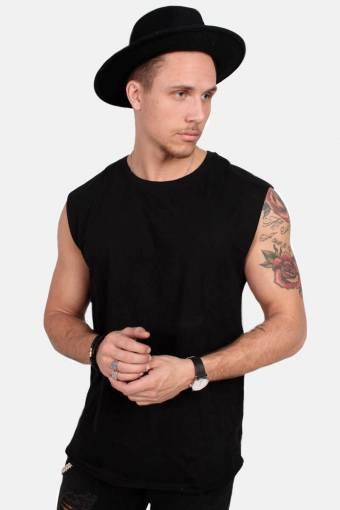 Klockaban Classics TB1562 Open Edge Sleeveless T-shirt Black