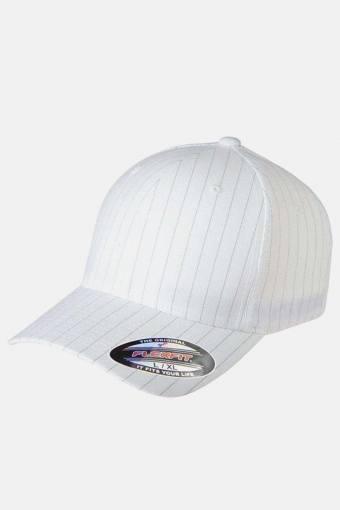 Pinstripe Cap White
