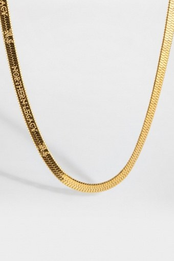 Herringbone Halsband Gold
