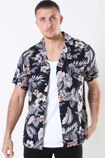 Tailored & Originals Pasha S/S Skjorta Dark Grey