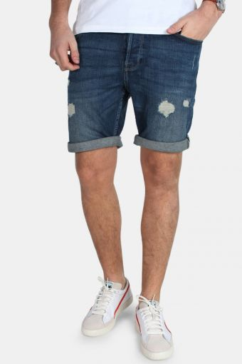 Ply Shorts M Blue Damage CR Blue Denim