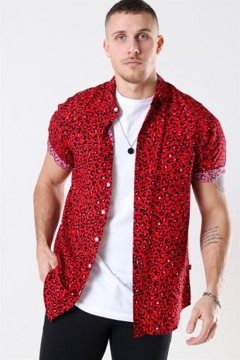 Grande S/S Skjorta Red Leo