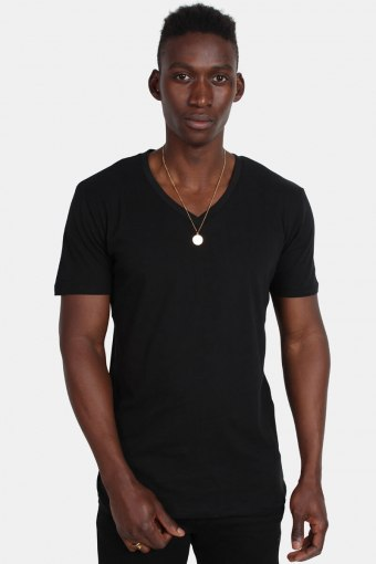 Klockaban Classics TB1559 Basic V-Neck T-shirt Black