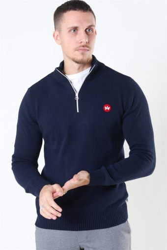 Liam Half Zip Recycle Sticka Navy