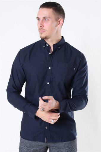 Classic Soft Oxford Skjorta LS Navy Blazer