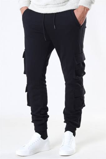 Klockaban Classics Double Pocket Terry Sweat Pants Black
