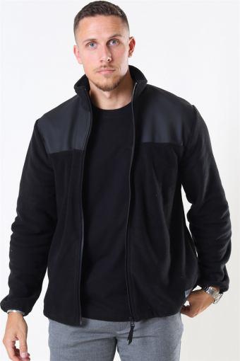 Fleece Zip Puller Jacka Black
