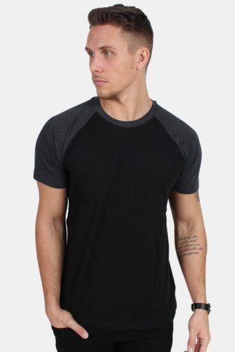 TB639 T-shirt Black/Charcoal