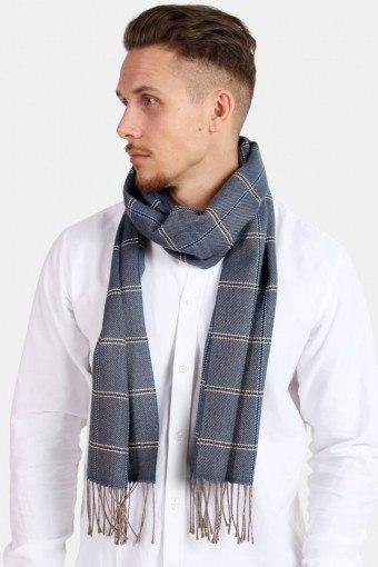 HalsScarf Pedro Wool Mix Navy