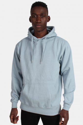 Hooded Tröja Dusty Blue
