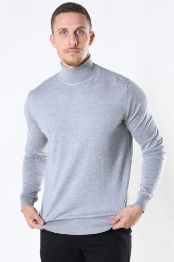 Potter Turtleneck Strik Light Grey Mix