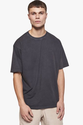 Boxy State Tee Dark Grey