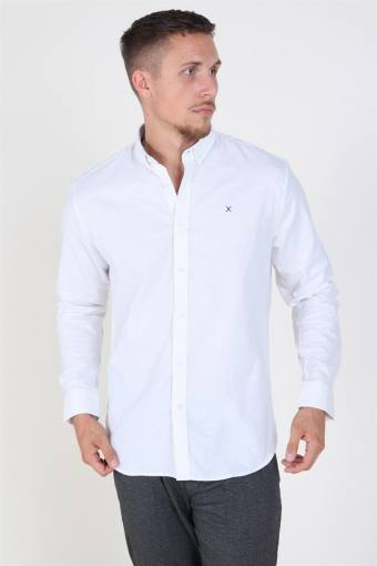 Clean Cut Oxford Plain Skjorta White