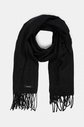 Solid Woven Scarf Black