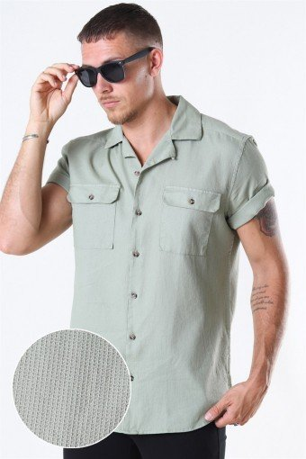 Only And Sons Andrew SS Reg Waffle Solid Shirt