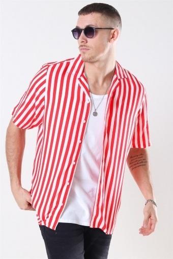 El S/S Cuba Skjorta Red/White