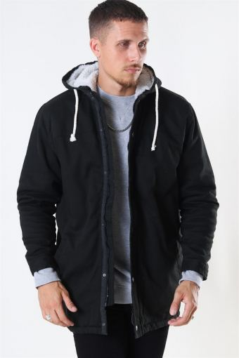 Teddy Parka Jacka Black