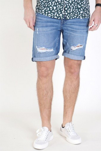 Ply Damage Shorts Blue Denim