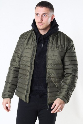 Paul Quilted Highneck Jacka Olive Night