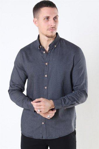 Johan Diego Cotton Skjorta Dark Grey