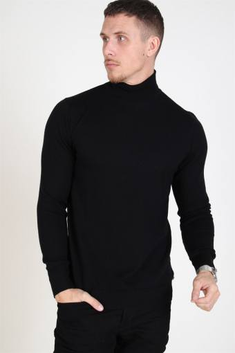 Johannes Merino Turtleneck Strik Black