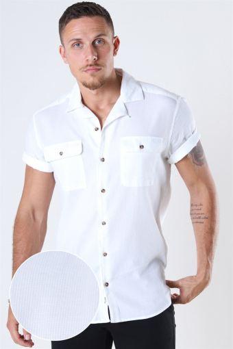 Andrew Waffle Skjorta S/S White