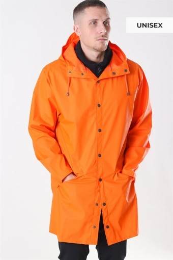 Long RegnJacka Fire Orange