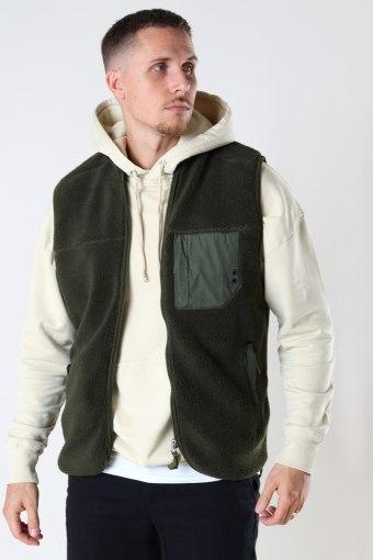 Kayson Teddy vest Army