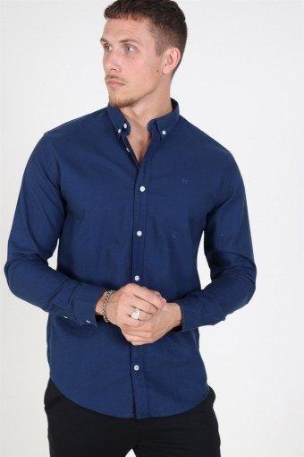Johan Oxford Washed Skjorta Blue