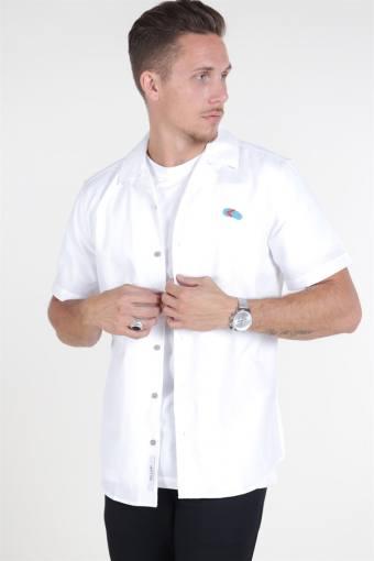 Travis SS Reverse Thin Oxford Skjorta White