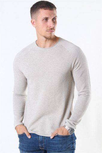 Hill Crew Neck Sticka Oatmeal