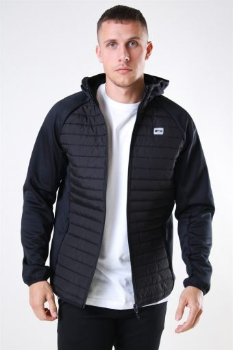 Jack & Jones Multi Quilted Jacka Black
