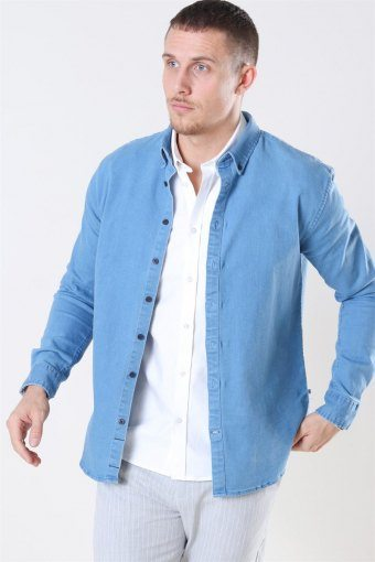 Johan Denim Skjorta Light Blue