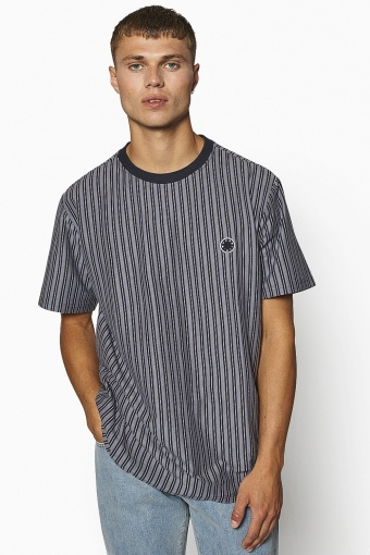 Jabi Milk Stripe Tee Navy