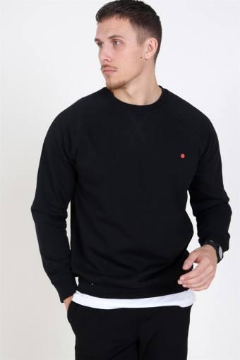 Dot Crewneck Sweatshirt Black