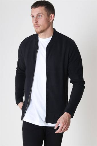 Jack & Jones Gerad Sweat Zip Crew Neck Black