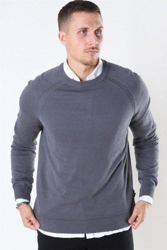 Luno O-neck Sticka Grey Melange