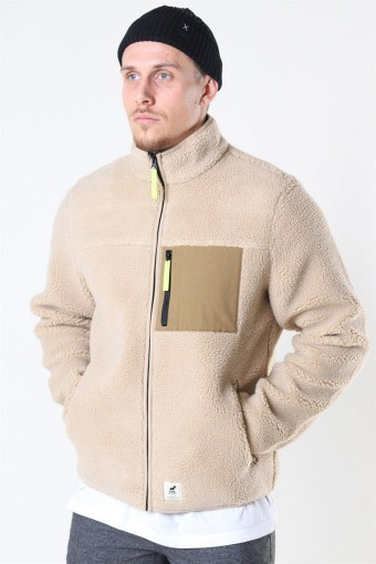 Hugh Fleece Jacka Off White