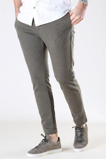 Clean Cut Milano Jersey Pants Dusty Green Melange