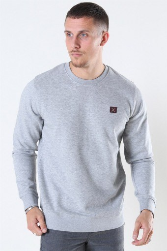 Clean Cut Basic Organic Crewneck Light Grey Melange