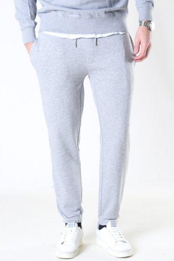 Clean Cut Basic Organic Pants Light Grey Melange