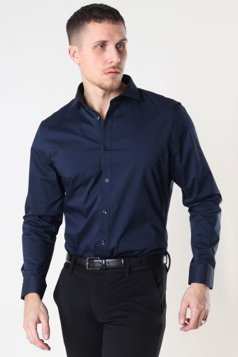 London Stretch Nano Shirt L/S Navy