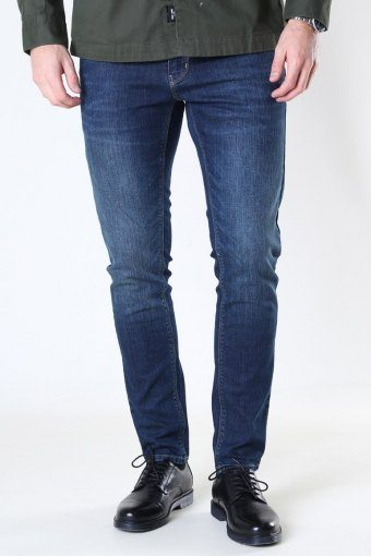 Clean Cut David Slim Stretch Jeans Dark Blue Denim