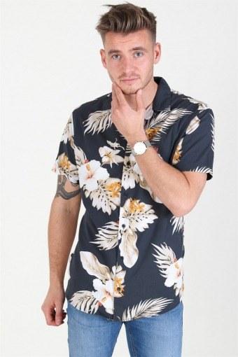 JPRHAWAII Resort Shirt S/S AOP Black