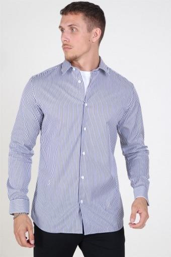 Slim Pelle Skjorta Dark Blue