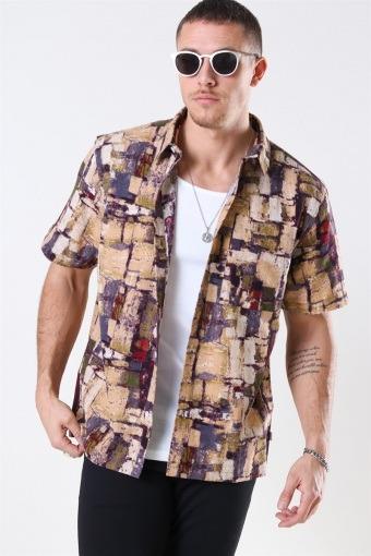 Splat S/S Skjorta Multi Color