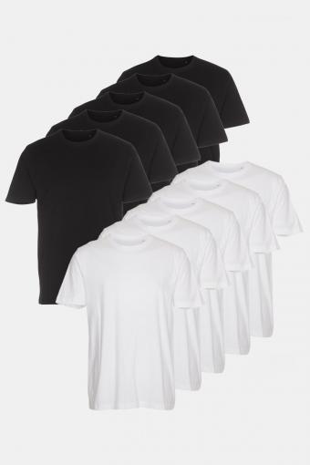 T-shirt 10-Pack Black/White
