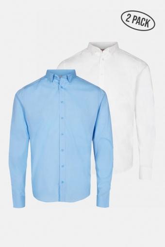 JJJOE SHIRT LS 2 PACK Cashmere Blue