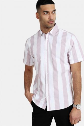 Travis SS Striped Thin Oxford Skjorta Violet Ice